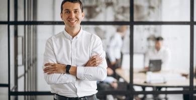 A importância de um sorriso para pessoas de negócio